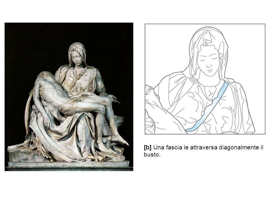 [b] Una fascia le attraversa diagonalmente il busto.